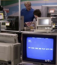 A Commodore C64 computer and  a Commodore 1702 monitor in the TV series Psych.