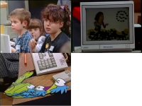 Een Commodore Amiga 2000 in de TV-show Rolf's Cartoon Club.