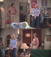 A Commodore C64 computer, 1541 diskdrive and a 1702 monitor in That '70s Show.