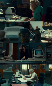 A Commodore PET2001 and 8032-SK computer in the film Wonder Woman 1984.